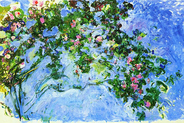 Claude Monet The Roses stretched canvas art print