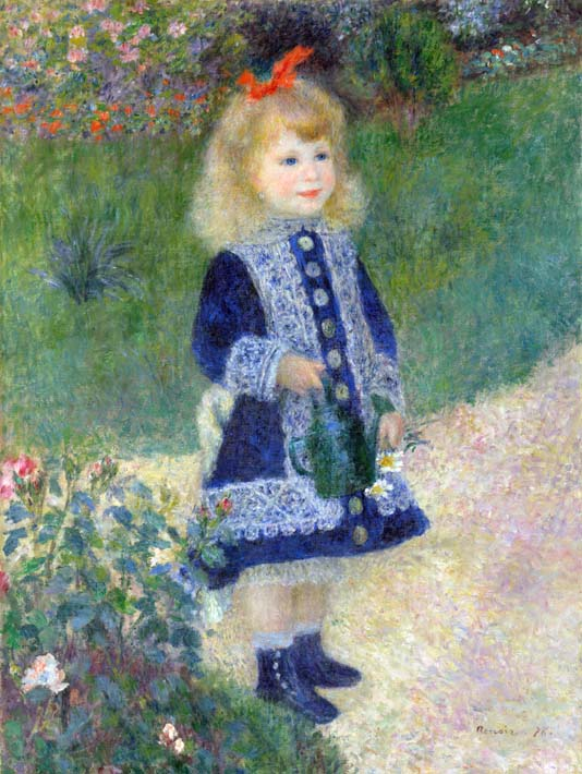 Pierre Auguste Renoir A Girl with a Watering-Can stretched canvas art print