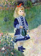 Pierre Auguste Renoir A Girl With A Watering Can canvas prints