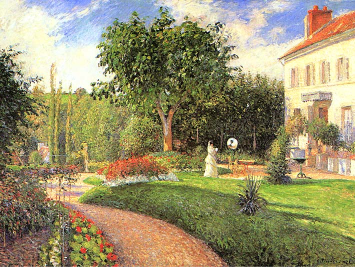 Camille Pissarro The Garden of Les Mathurins at Pontoise stretched canvas art print