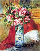 Pierre Auguste Renoir Roses In A Vase canvas prints