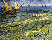 Vincent van Gogh Seascape at Saintes-Maries