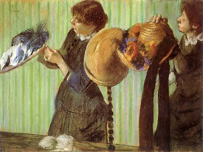 Edgar Degas Little Milliners stretched canvas art print