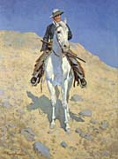 Frederic Remington Self-Portrait on a Horse