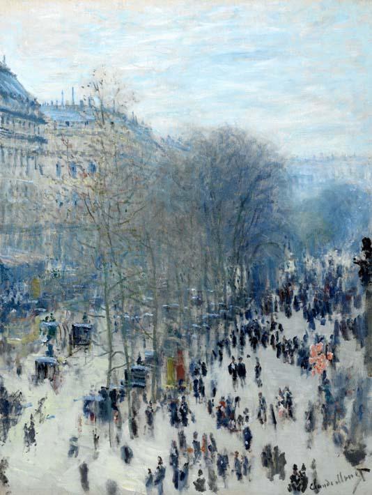 Claude Monet Boulevard des Capucines stretched canvas art print