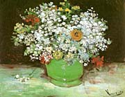 Vincent Van Gogh Vase with Zinnias and Other Flowers