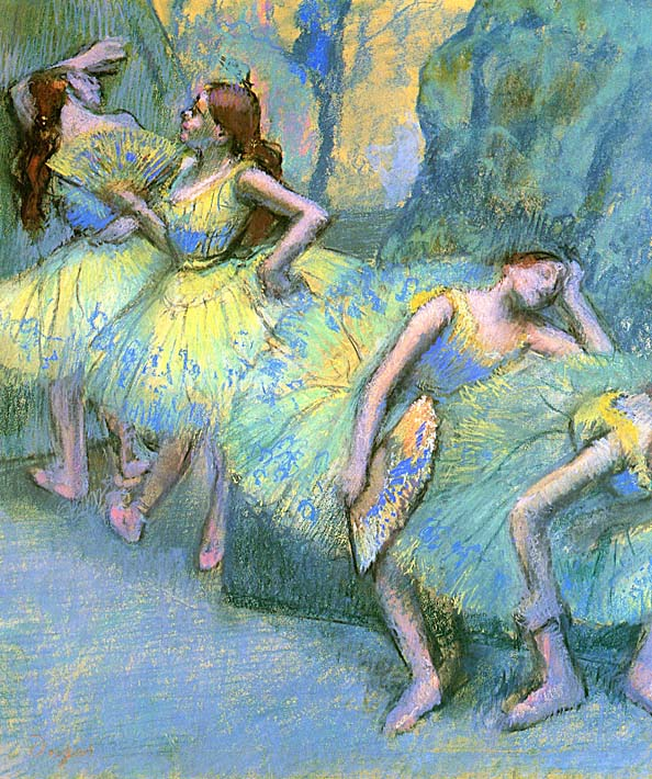 Edgar Degas Ballet Dancers in the Wings stretched canvas art print