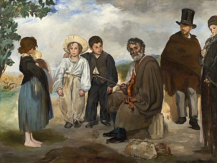 Edouard Manet The Old Musician stretched canvas art print