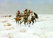 Charles Russell The Snow Trail canvas prints