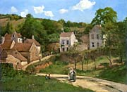 The Hermitage at Pontoise Canvas Prints