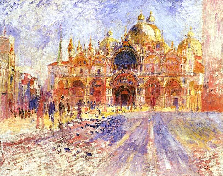 Pierre Auguste Renoir Piazza San Marco, Venice stretched canvas art print