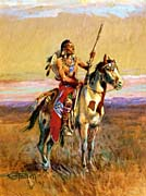 Charles Russell The Scout canvas prints