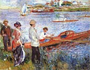 Pierre Auguste Renoir Oarsmen at Chatou