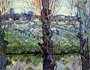 Vincent Van Gogh Orchard in Blossom with View of Arles