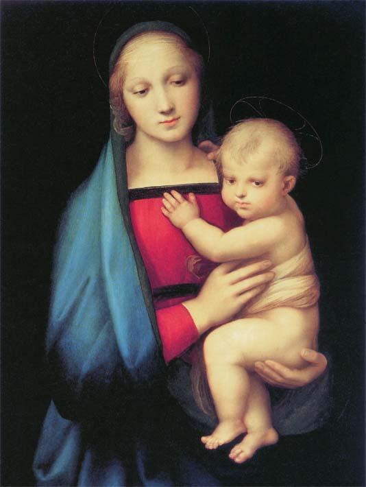 Raphael The Madonna del Granduca stretched canvas art print