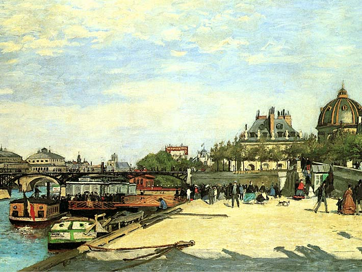 Pierre Auguste Renoir The Pont des Arts stretched canvas art print