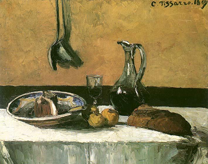 Camille Pissarro Kitchen Still Life stretched canvas art print