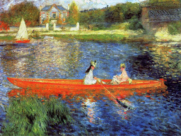 Pierre Auguste Renoir The Skiff stretched canvas art print