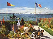 Claude Monet Terrace at Sainte-Adresse