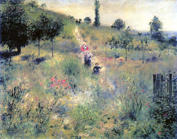 Pierre Auguste Renoir Path Winding Through High Grass stretched canvas art print