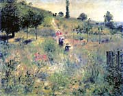 Pierre Auguste Renoir Path Winding Through High Grass