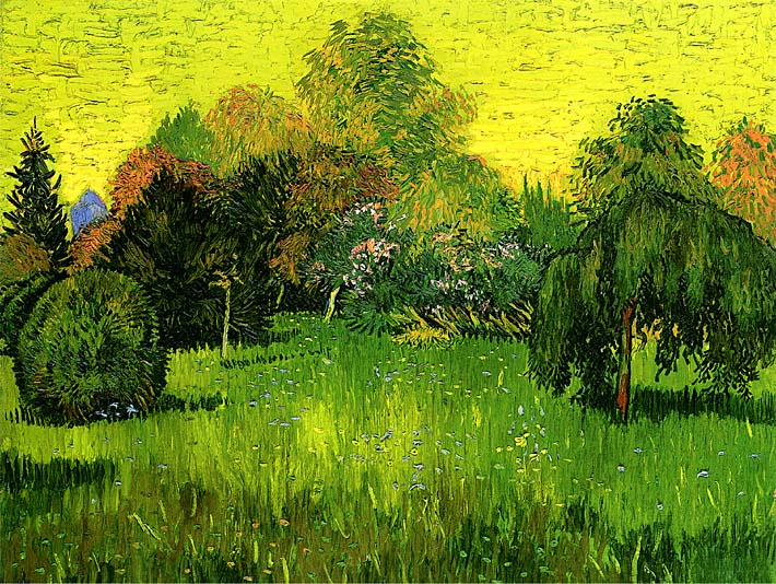 Vincent van Gogh Public Park with Weeping Willow: The Poet's Garden I stretched canvas art print