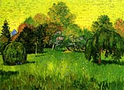 Vincent Van Gogh Public Park with Weeping Willow: The Poet's Garden I