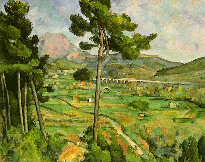 Paul Cezanne Mont Sainte-Victoire seen from Bellevue stretched canvas art print
