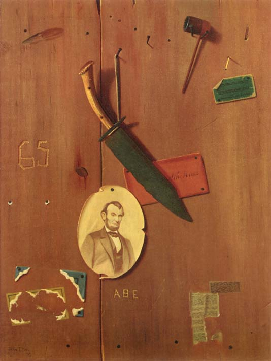 John Frederick Peto Reminiscences of 1865 stretched canvas art print
