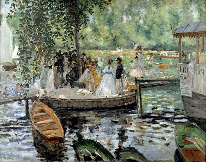 Pierre Auguste Renoir La Grenouillere stretched canvas art print
