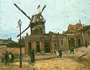 Vincent Van Gogh Le Moulin De La Galette canvas prints
