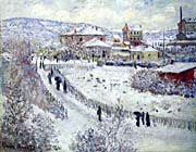 Claude Monet View of Argenteuil, Snow
