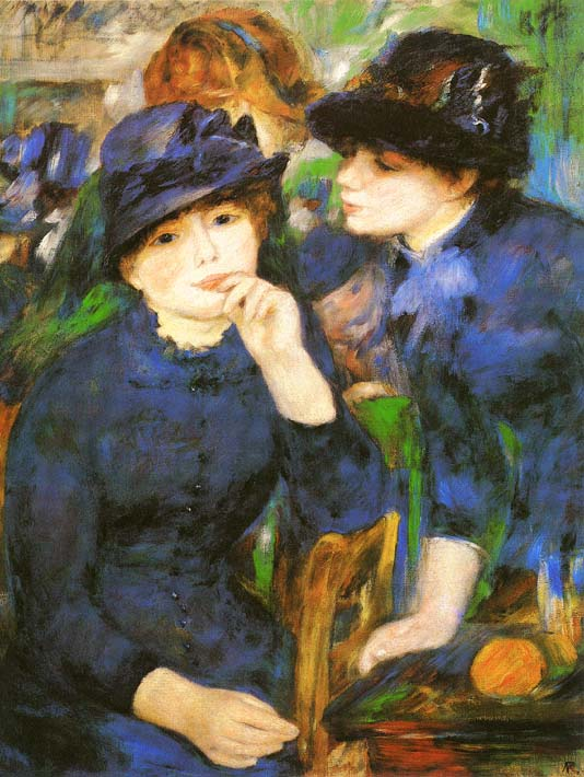 Pierre Auguste Renoir Two Girls stretched canvas art print