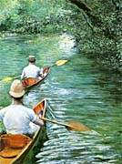 Gustave Caillebotte Canoeing canvas prints