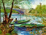 Vincent van Gogh Fishing in the Spring, Pont de Clichy