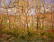 Camille Pissarro Wooded Landscape at L'Hermitage, Pontoise