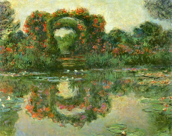 Claude Monet The Flowering Arches, Giverny (detail) stretched canvas art print