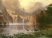 Albert Bierstadt The Sierra Nevada in California (detail)