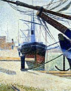 Georges Seurat The Harbor at Honfleur