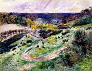 Pierre Auguste Renoir Road At Wargemont canvas prints