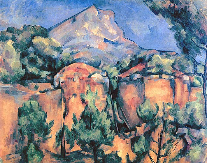 Paul Cezanne Mont Sainte-Victoire seen from Bibemus stretched canvas art print