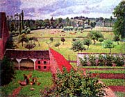 Camille Pissarro View From The Artists Window At Eragny canvas prints