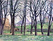 Paul Cezanne Chestnut Trees at Jas de Bouffan in Winter