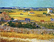 Vincent Van Gogh Harvest At La Crau canvas prints