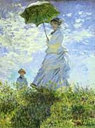 Claude Monet Woman With A Parasol canvas prints