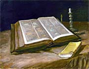 Vincent van Gogh Still Life with Open Bible