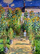 Claude Monet The Artists Garden At Vetheuil canvas prints