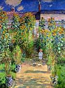 Claude Monet The Artists Garden At Vetheuil canvas prints