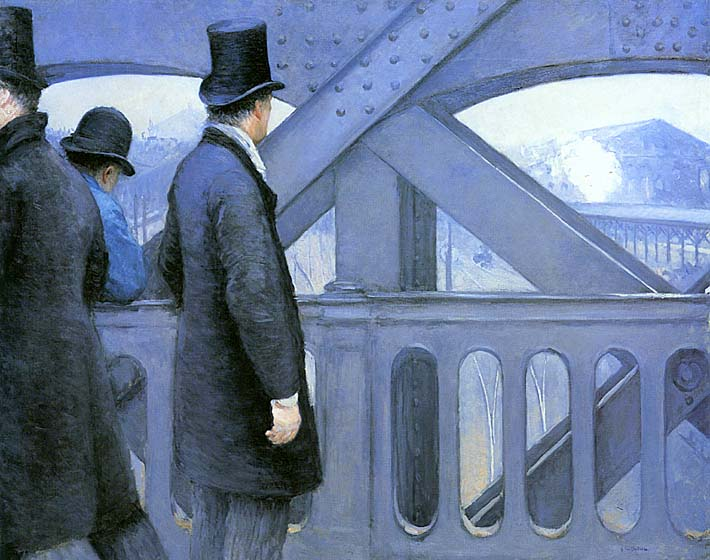 Gustave Caillebotte The Europe Bridge stretched canvas art print