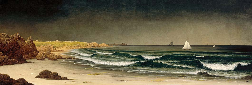 Martin Johnson Heade Approaching Storm, Beach near Newport stretched canvas art print